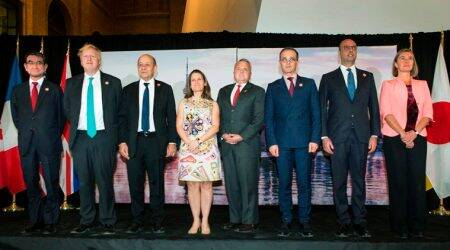 G7 foreign ministers' summit opposes Russia's behavior: US official