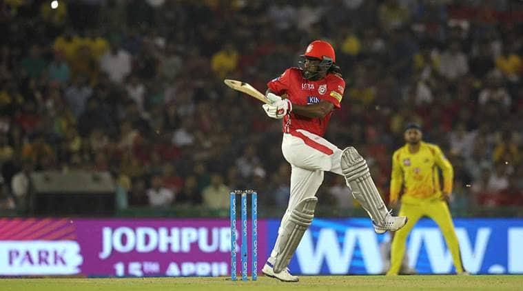 IPL 2018, Chris Gayle, KXIP vs CSK, Chris Gayle batting, KL Rahul, Kings XI Punjab Chennai Super Kings, sports news, cricket, IPL news, Indian Express