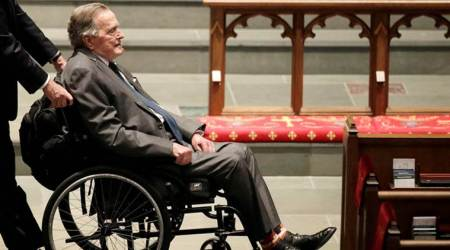 Former US President George H W Bush hospitalized with blood infection