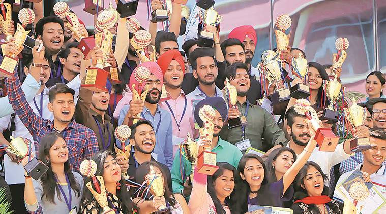 Chandigarh, Chandigarh news, Chandigarh college, GGDSD college, GGDSD students awarded, Indian express news