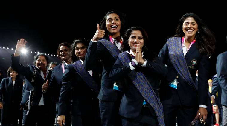 India's contingent at the Commonwealth Games