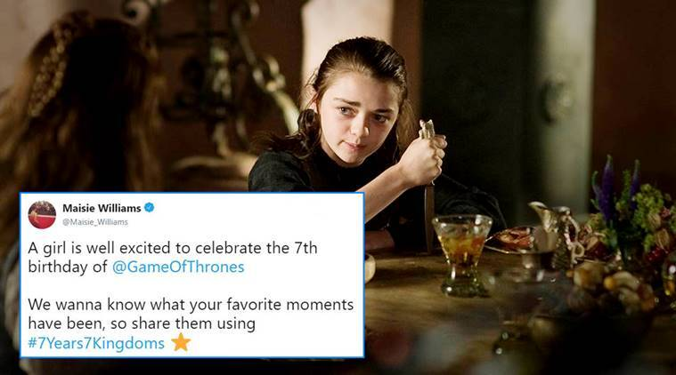 game of thrones, Maisie Williams, Arya Stark, Maisie Williams asks Twitterati, twitter reaction game of thrones, GOT news, GOT tweets, indian express, indian express news