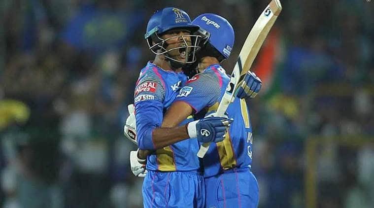 IPL 2018, Indian Premier League, K Gowtham, K Gowtham runs, K Gowtham batting, RR vs MI, sports news, IPL news, cricket, Indian Express