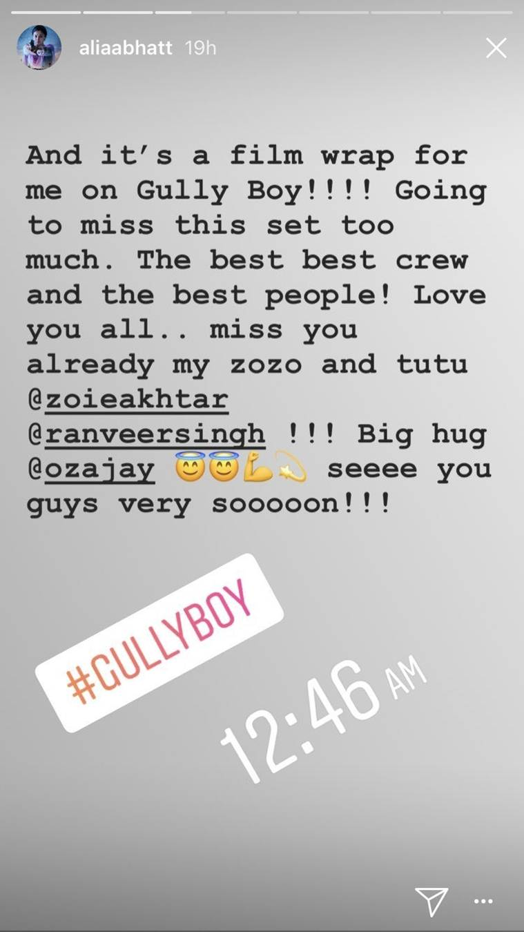 alia bhatt gully boy ranveer singh shooting