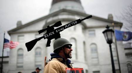 Gun rights advocates rally at state capitols acrossUS