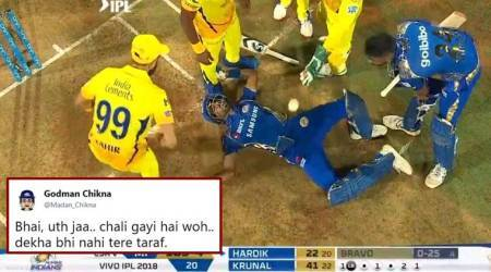 IPL 2018, MI vs CSK: This photo of Hardik Pandya from the opening match is now a hit meme