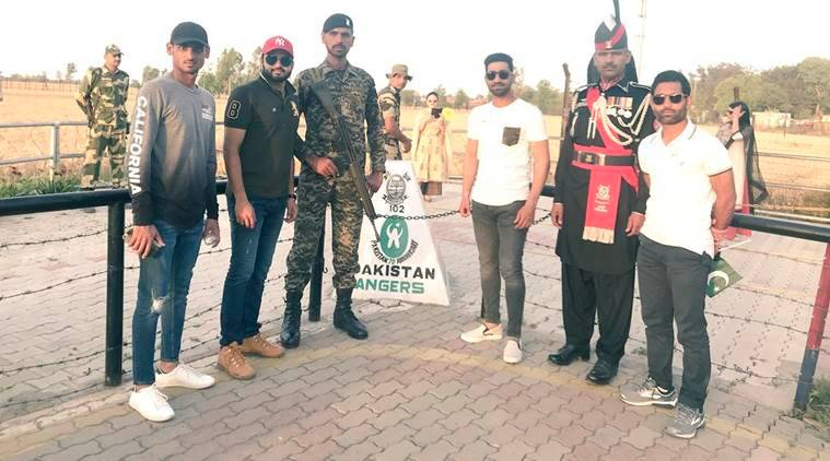 Pakistani Cricketer Hasan Ali's Signature Moves At Wagah Border