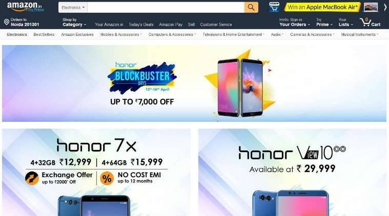 Honor Blockbuster Days sale on Amazon India: Top discounts on Honor