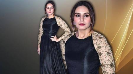 Black and gold is glam but Huma Qureshi's gown is a BIG disappointment