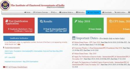 CA IPCC 2018 admit card released, download at icaiexam.icai.org