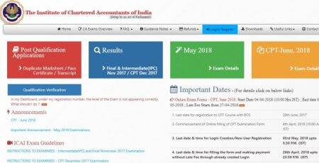 ICAI CPT 2018 registration begins at icaiexam.icai.org, know how to apply