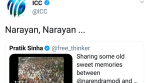 ICC hit-wicket on Modi-Asaram Bapu viral video