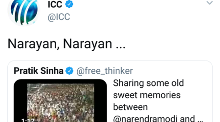 Asaram Bapu Verdict: ICC tweets 'Narayan, Narayan' on viral video of Narendra Modi, Asaram Bapu