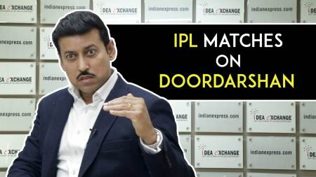 Sports Minister Rajyavardhan Singh Rathore On The Idea Of Broadcasting IPL Matches On Doordarshan