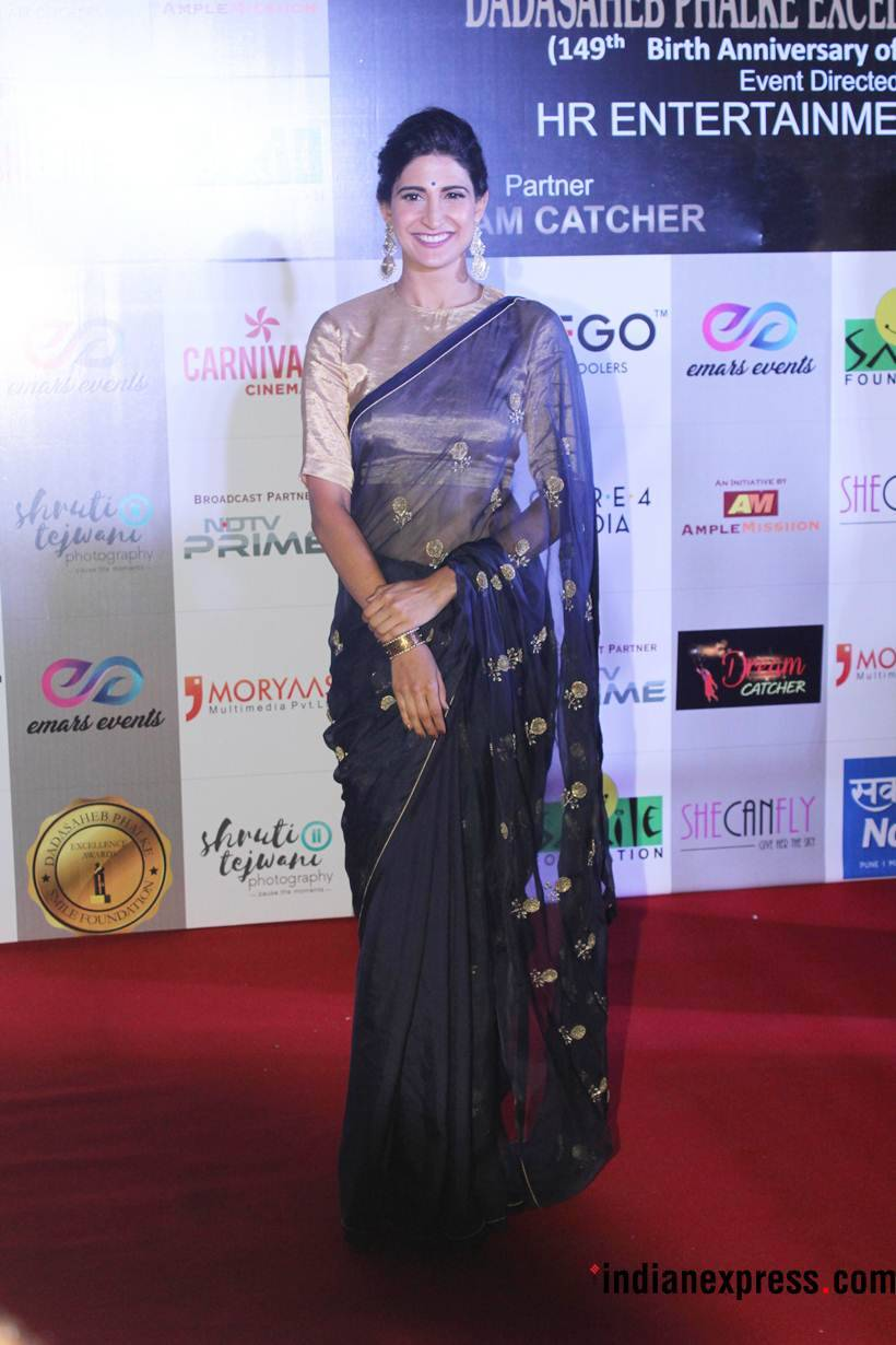 aahana kumra at dada saheb phalke excellence awards