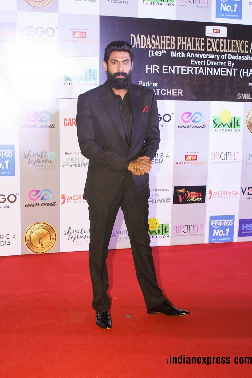rana daggubati at dada saheb phalke excellence awards
