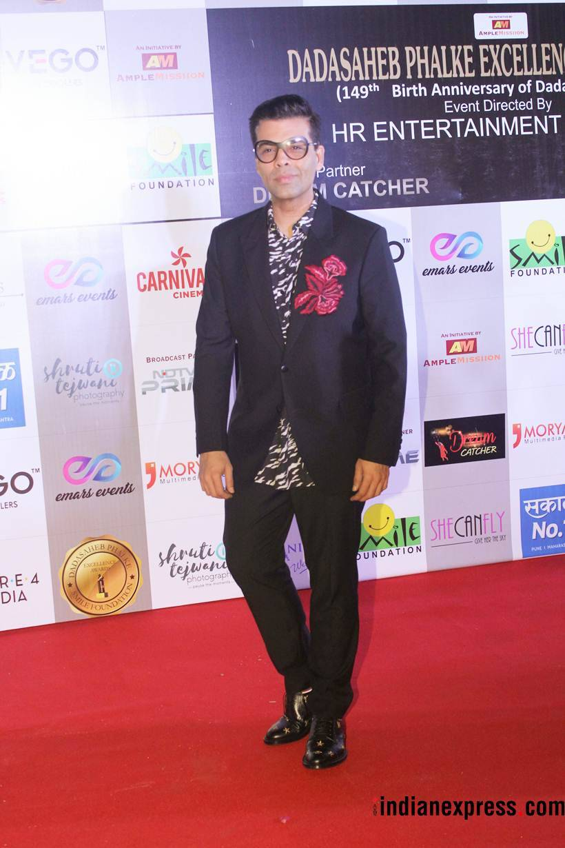 karan johar at dada saheb phalke excellence awards