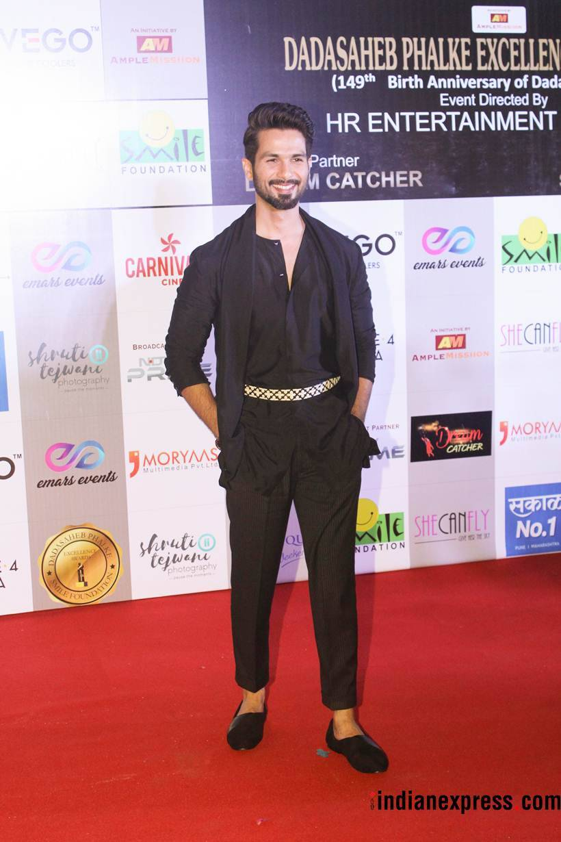 shahid kapoor at dada saheb phalke excellence awards