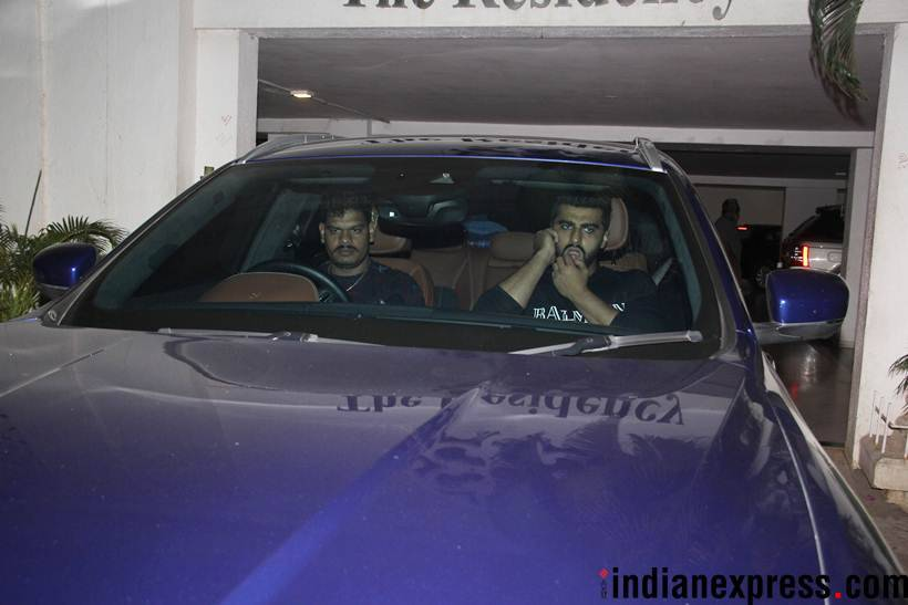arjun kapoor at sanjay kapoor bash