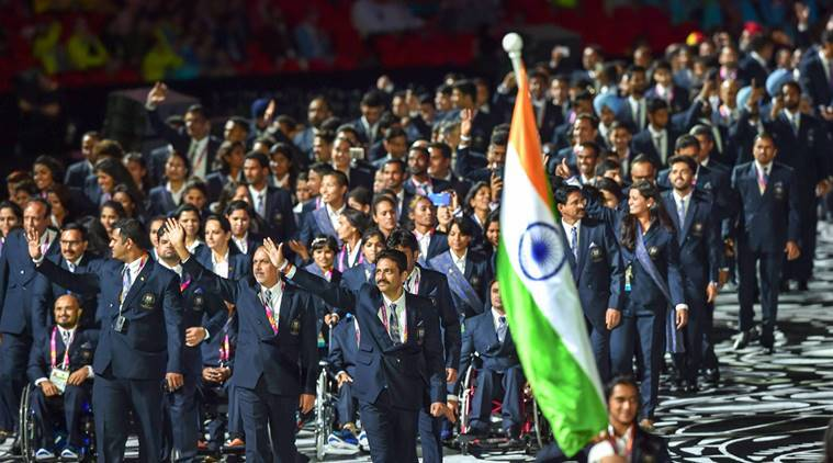 India's contingent at CWG opening ceremony in Gold Coast
