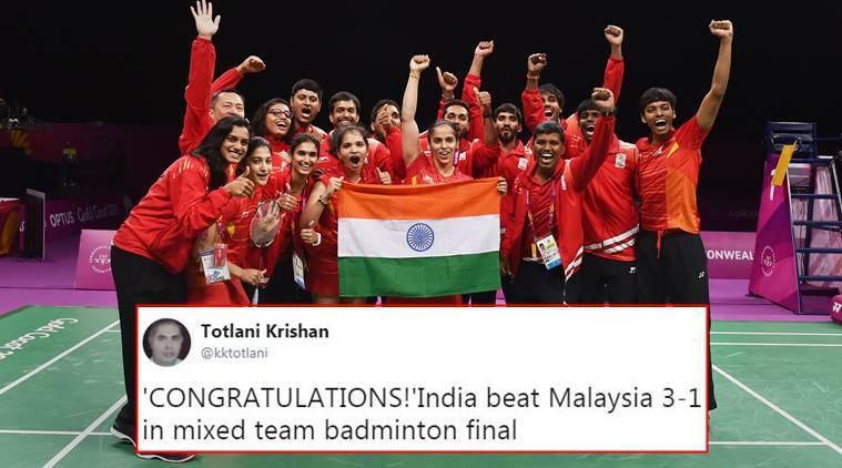 cwg, cwg score, cwg indian gold tally, cwg mixed badminton score, cwg mixed badminton score, cwg saina nehwal, indian express, indian express news