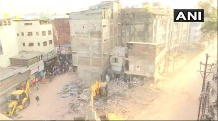 Indore: Four-storey building collapses killing 10 people, Chouhan announces Rs 2 lakh compensation