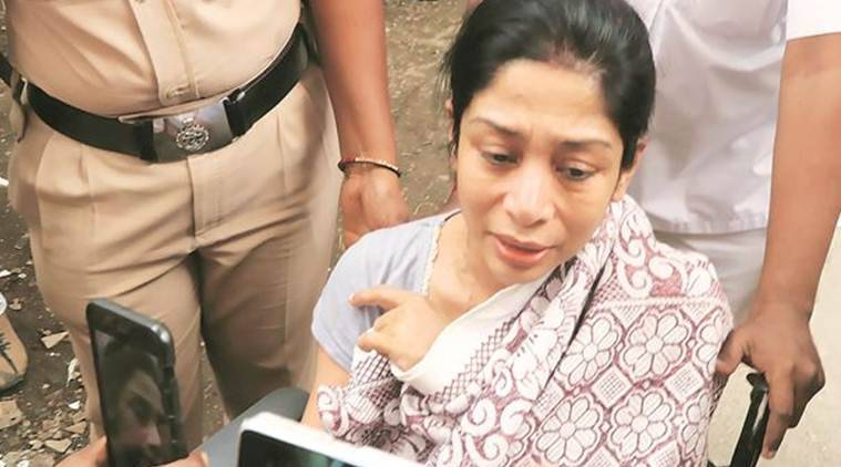 ndrani Mukerjea, indrani produced in court, jj hospital, sheena bora murder case, indian express