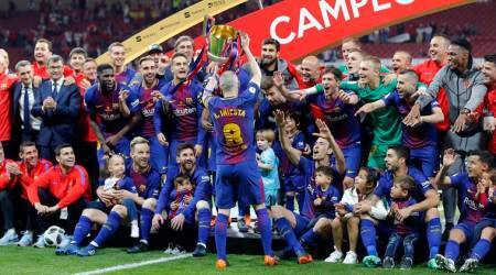 Barcelona crush Sevilla to lift record fourth consecutive Copa del Rey title
