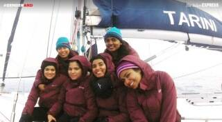 """Our entire journey is about breaking stereotypes,"" says the all-women crew that sailed round the globe on INSV Tarini"