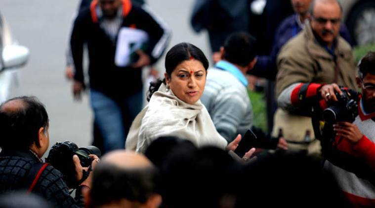 """The CBI is investigating the matter...our government is with the victim's family,"" Smriti Irani said. (File)"