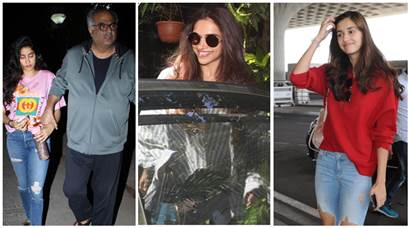 Celeb spotting: Janhvi Kapoor, Deepika Padukone, Disha Patani and others
