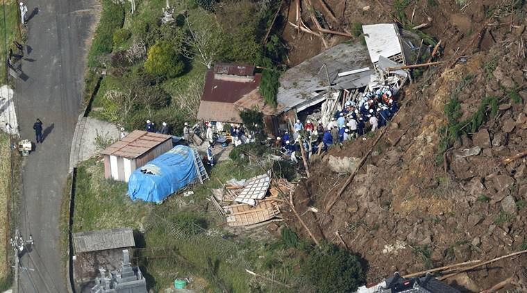 Overnight landslide leaves 6 missing in southern Japan