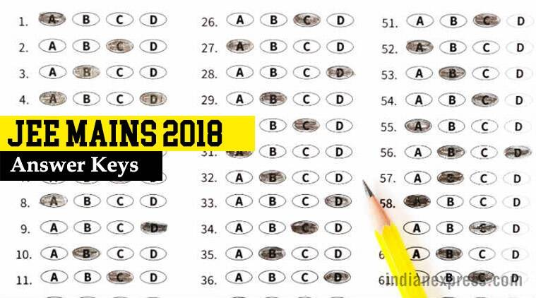 jee mains 2018 answer keys released at jeemain nic in steps to