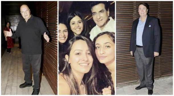 jeetendra birthday bash inside photo