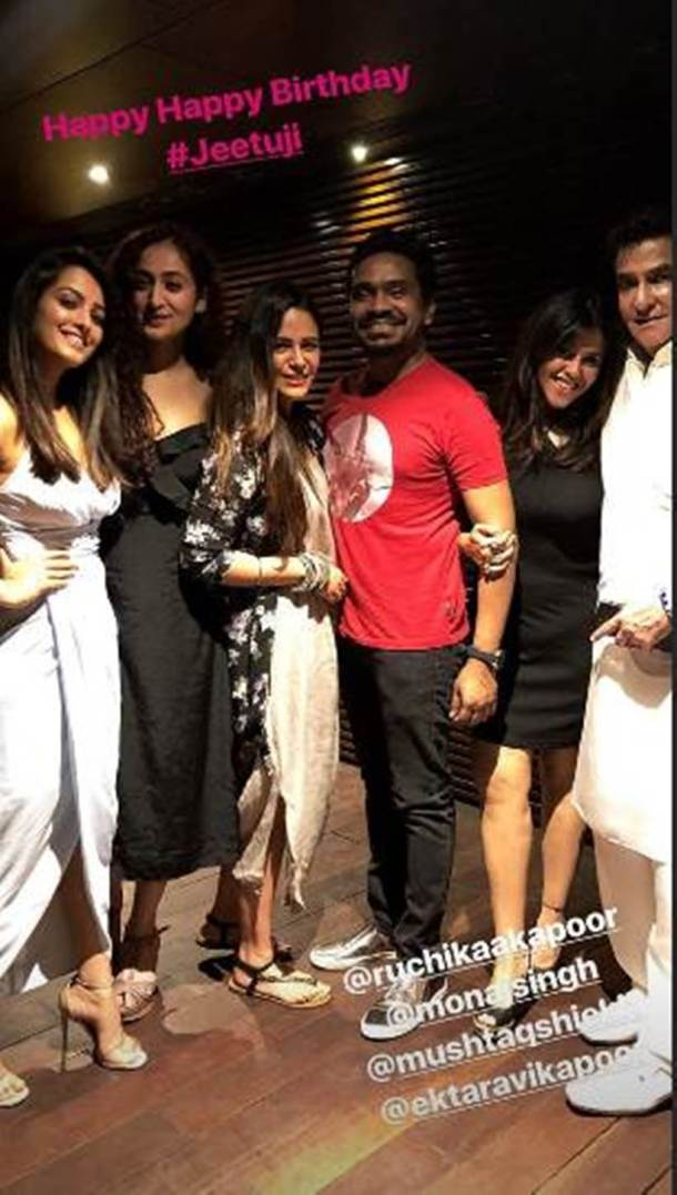 jeetendra birthday bash inside photo ekta