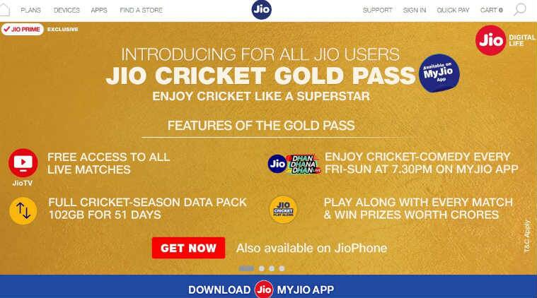 jio, jio rs 251, jio cricket, jio ipl, ipl 2018, ipl, jio ipl recharge, jio ipl cricket pack, jio ipl pack, airtel cricket pack, vodafone cricket pack