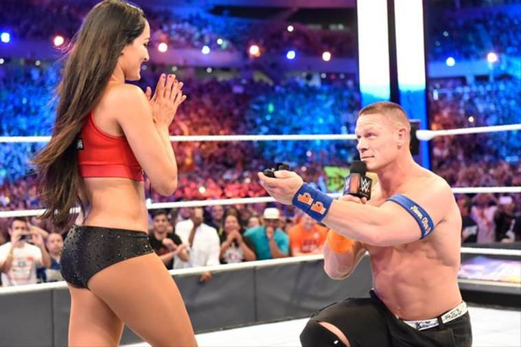 John Cena Nikki Bella proposal photos