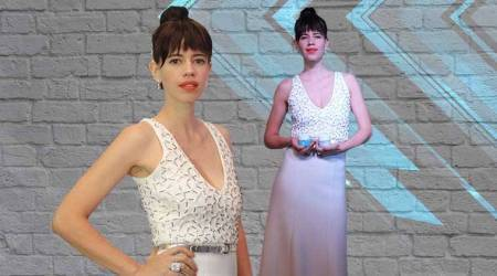 Kalki Koechlin looks cute as a button in this lovely ivory gown