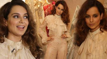 Kangana Ranaut's delicate lace blouse is a Victorian classic, but the pants are a BIG letdown