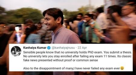 'No exams in PhD': Kanhaiya Kumar responds to fake tweets claiming he 'failed 11 times'