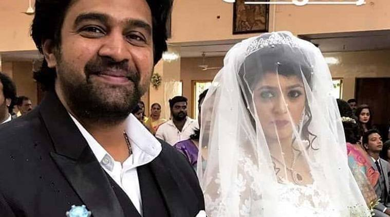 Meghana Raj and Chiranjeevi Sarja's church wedding