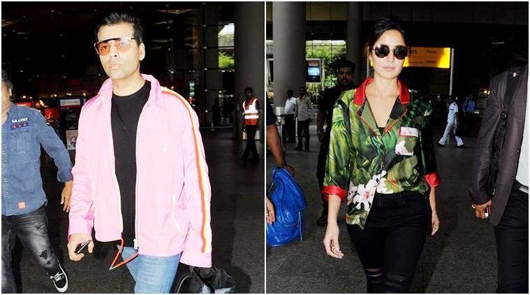 Katrina Kaif, Karan Johar, Celeb airport looks, Katrina kaif airport looks, karan johar fashion, celeb fashion, fashion tips, celeb fashion tips, lifestyle news, fashion tips, indian express, indian express news