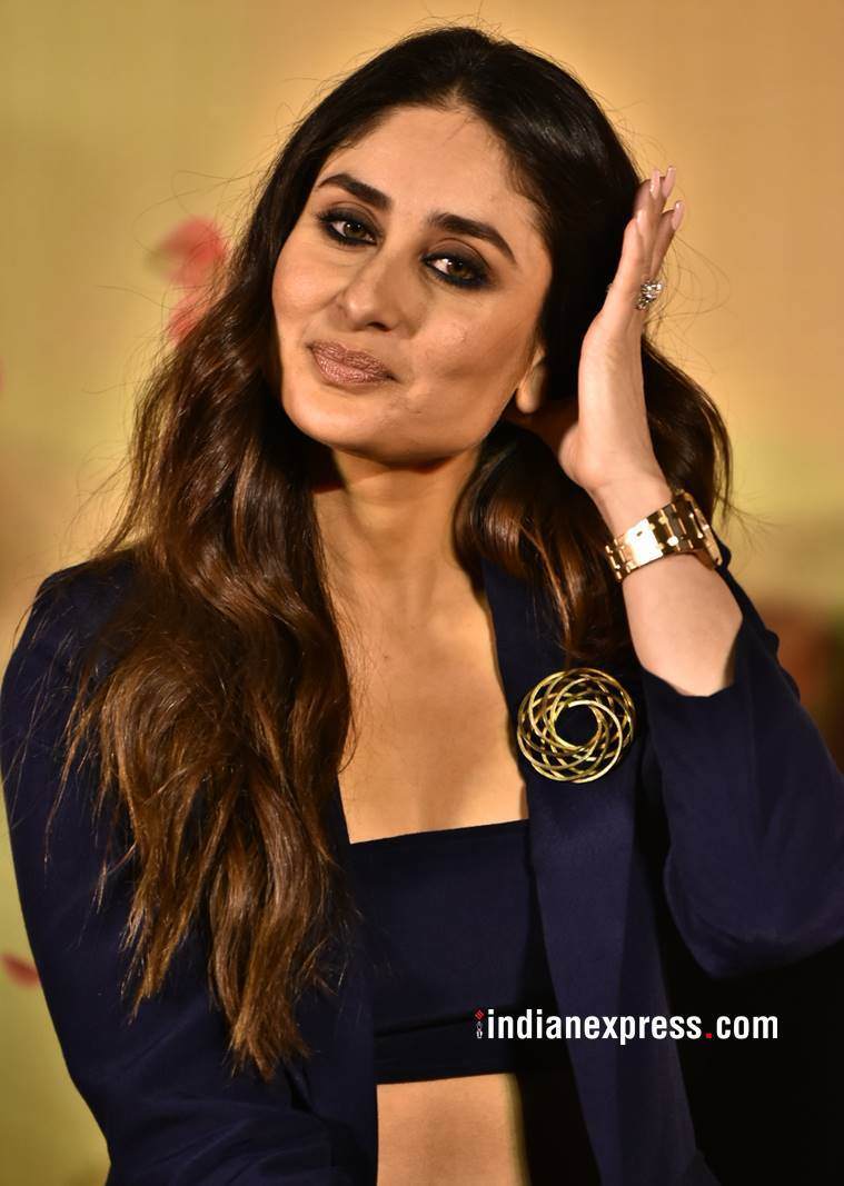 Veere Di wedding trailer launch, Kareena Kapoor Khan, Kareena Kapoor Khan fashion, Kareena Kapoor Khan Veere Di wedding look, Kareena Kapoor Khan latest photos, Sonam Kapoor Veere Di wedding fashion, Sonam Kapoor latest photos, indian express, indian express news