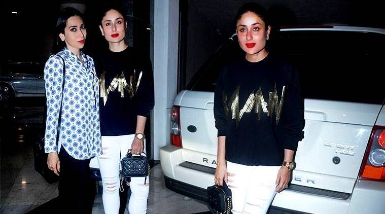 Kareena Kapoor Khan, Kareena Kapoor Khan latest photos, Kareena Kapoor Khan fashion, Kareena Kapoor Khan Balmain, Kareena Kapoor Khan karisma kapoor photos, Kareena Kapoor Khan casual fashion, indian express, indian express news