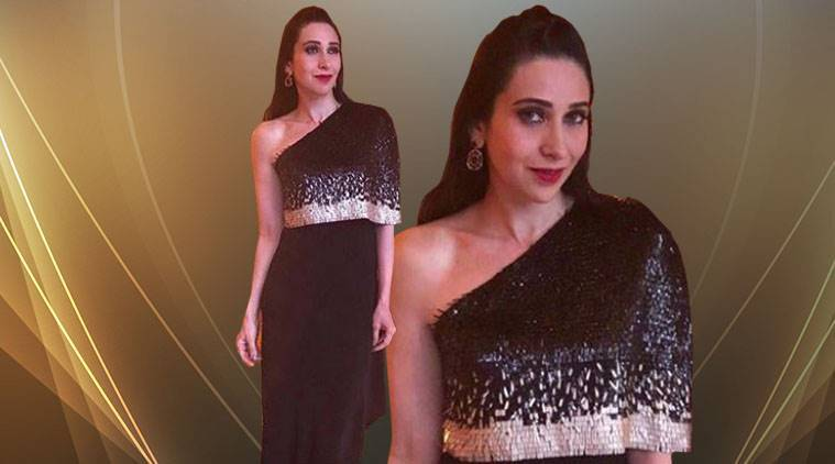 Karisma Kapoor, Karisma Kapoor western outfits, Karisma Kapoor Namrata Joshipura, Karisma Kapoor fashion, Karisma Kapoor latest photos, Karisma Kapoor one shouldered outfit, Karisma Kapoor contemporary style, indian express, indian express news