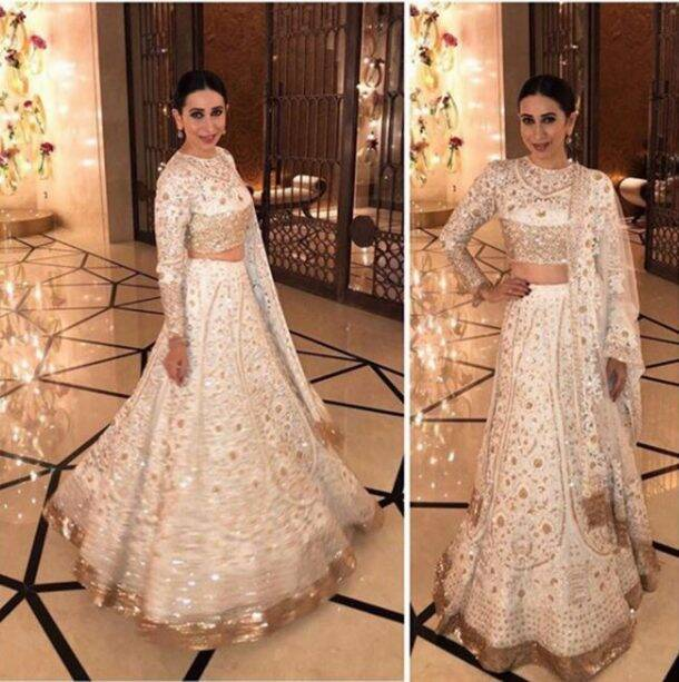 white wedding outfits, white ethnic wear, white ethnic outfits bollywood, bollywood wedding outfits, Sonam Kapoor, Anand Ahuja, Sonam Kapoor Anand Ahuja, Priyanka Chopra, manushi chhillar, Sonakshi Sinha, mahira khan, khushi kapoor, sara ali khan, malaika arora, karisma kapoor, yami gautam, esha gupta, dia mirza, athiya shetty, sonali bendre, celeb fashion, bollywood fashion, indian express, indian express news