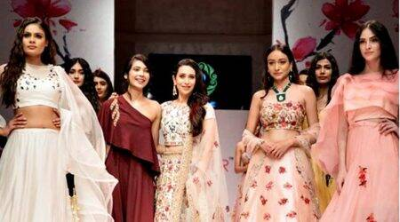 Asian Designer Week: Karisma Kapoor looks splendid in an embroidered Perrie Fashions lehenga
