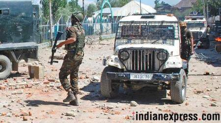 The firing by the security forces came a day after the Union government ended the month-long ceasefire across the state in the wake of Ramzan. (Express photo/Representational)