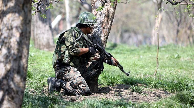 The encounter is Shopian is underway. (Representational/Express photo by Shuaib Masoodi)