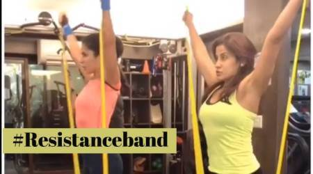 WATCH: Katrina Kaif takes workouts up a notch with resistance bands